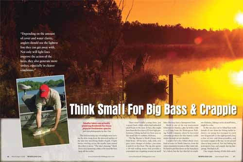 Spread one of Think Small For Big Bass & Crappie feature