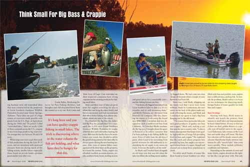 Spread two of Think Small For Big Bass & Crappie feature